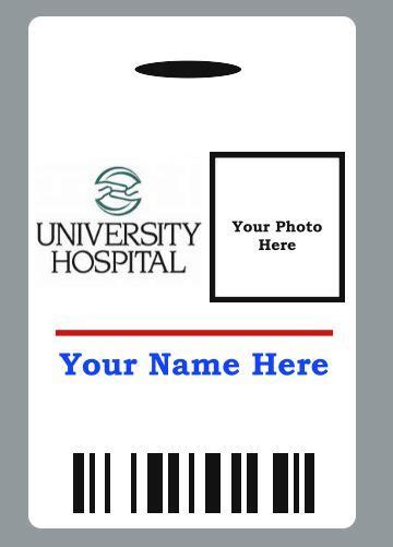 The Ideas Hospital Id Badge Template Trend Custom Hospital Doctor Badge Id Prop