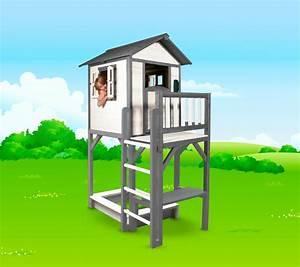 Sandkasten Kunststoff Xxl : kinder spielhaus beachstyle lodge xxl plus wei grau stelzenhaus sandkasten vom garten ~ Orissabook.com Haus und Dekorationen