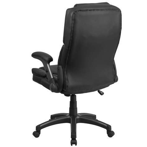 comfort high back black leather executive swivel