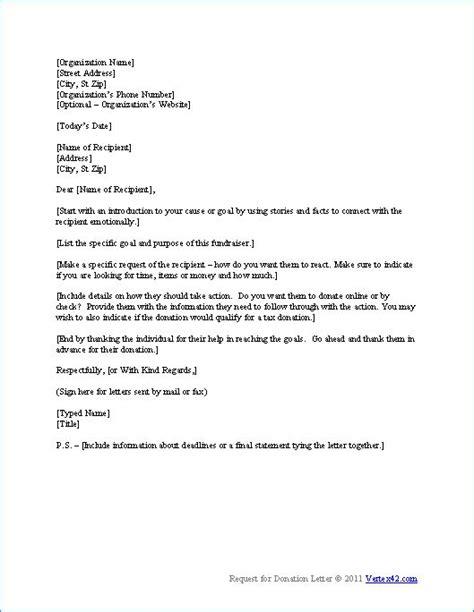 donation request letter   write  donation request
