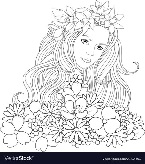 beautiful coloring pages royalty free vector image