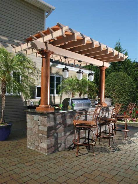 small outdoor kitchen island am 233 nager un bar de jardin conseils utiles 5537