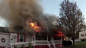 Working House Fire W  Firefighter Rescue  Great Mills  Md