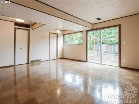 cork flooring mid century modern midcentury modern time capsule house in portland oregon retro renovation