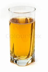 Glass of apple juice isolated on white background | Stock ...