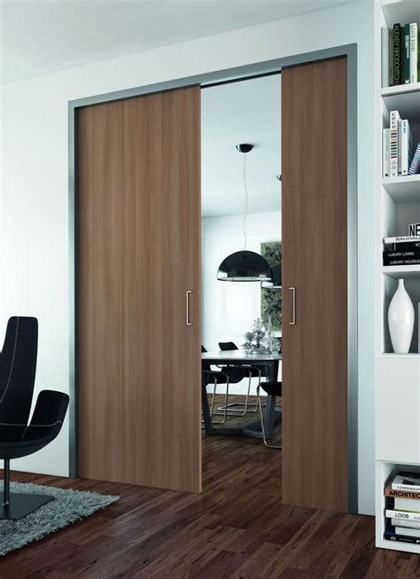 porte  galandage des portes coulissantes belles