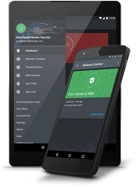 antivirus  android bitdefender mobile security uk