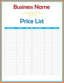 cheap wedding program 6 price sheet template marital settlements information