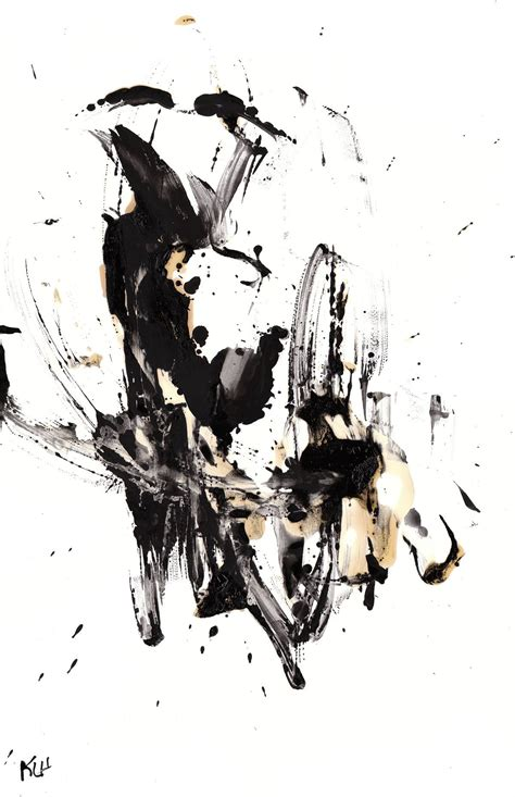 Abstract Black And White Ink Painting by Minimalist Black And White Modern Search