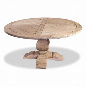 Ludlum neoclassical rustic light wood 60quotd round dining table for Light wood dining tables