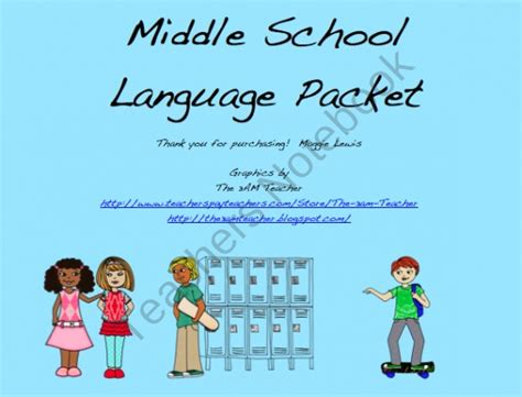 Middle School Language Packet From Maggieslp On Teachersnotebookcom (18 Pages)  This Packet