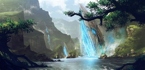 river fantasy art nature video games wallpapers hd