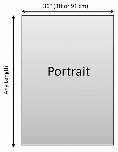Poster Portrait Printing Height Width Format Landscape