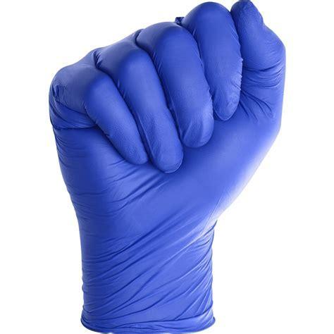 Medline SensiCare Ice Blue Nitrile Exam Gloves   Large