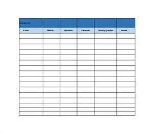Excel Sheet Templates 9 Password Spreadsheet Templates Free Word Excel Pdf Documents Free Premium