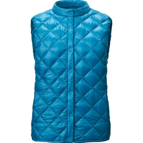 ultra light down vest uniqlo ultra light down compact quilted vest in blue lyst