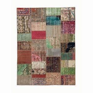 Tapis victoire roche bobois kilims for Tapis patchwork kilim vintage