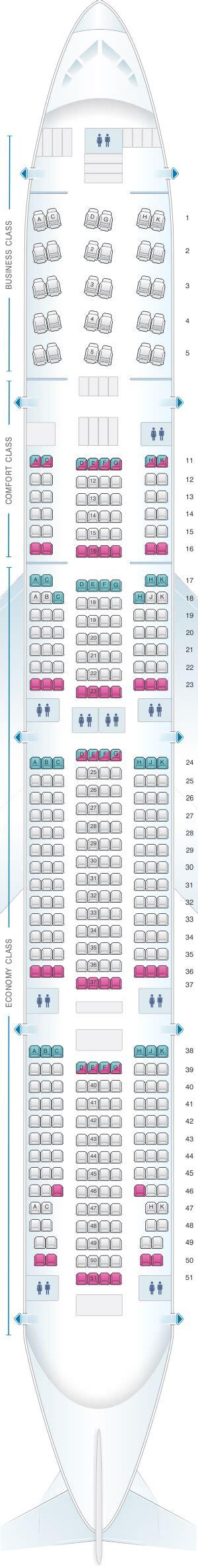 plan si es boeing 777 300er air plan de cabine aeroflot airlines boeing b777 300er