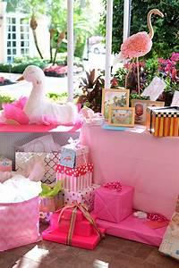 Beth39s Flamingo Inspired Baby Shower Palm Beach Lately