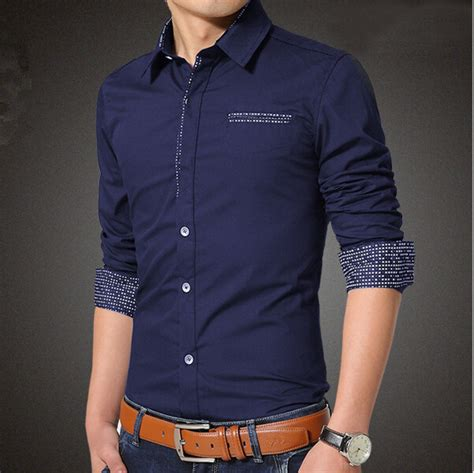 men casual shirts single breasted dot design  xl mens