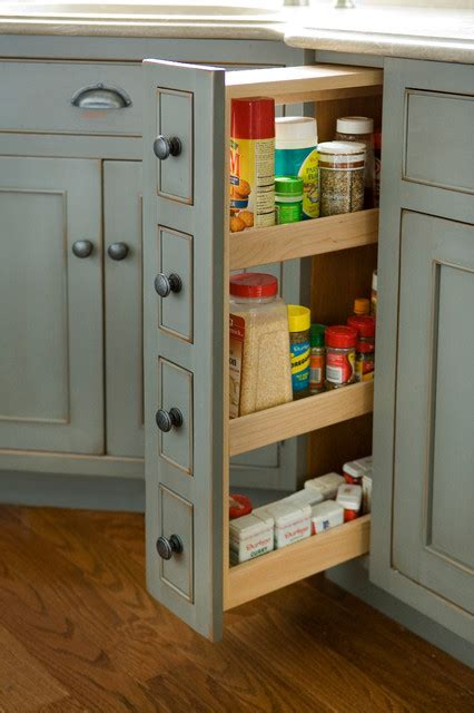 narrow pull out pantry cabinet pantry spice cabinet traditional kitchen boston by