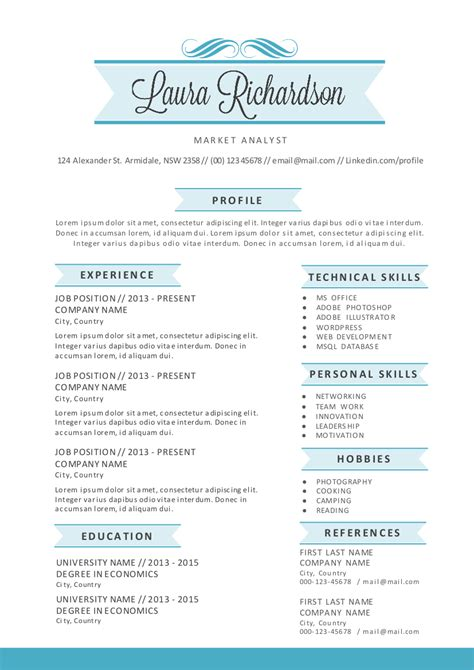stylish banner word resume resume templates