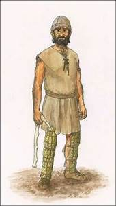 In this picture, you'd see male stone age clothing. I ...
