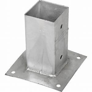 Support De Poteau : support pied de poteau bois 70x70 7x7 fixer galvanis ~ Melissatoandfro.com Idées de Décoration
