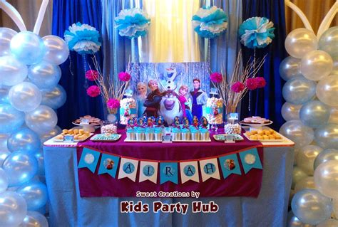 kids party hub disney frozen themed party airahs