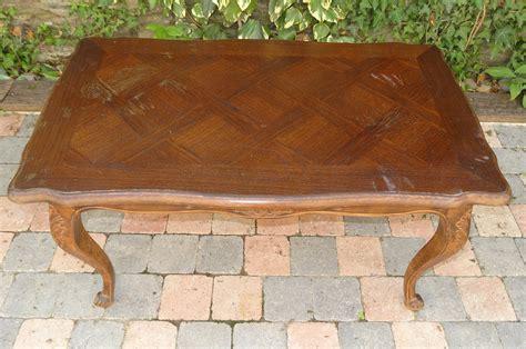 table basse ancienne en ch 234 ne plateau cir 233 bois pi 233 tement patin 233 gris anjoudeco