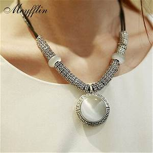 collares 2017 fashion opal statement necklaces pendants With collier