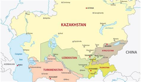 maps central asia