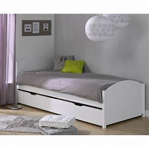 Lit Blanc 1 Personne : lit adulte 1 personne maison design ~ Teatrodelosmanantiales.com Idées de Décoration