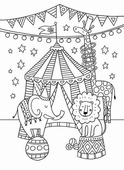Circus Coloring Greatest Showman Theme Crafts Coloriage