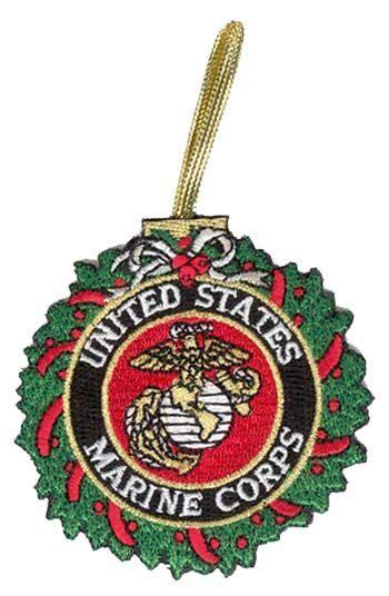 marine corps wreath christmas ornament marine corps