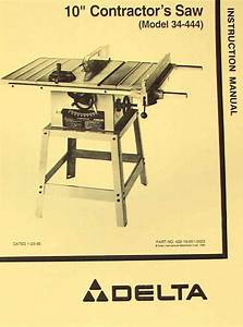 Delta 10 U0026quot  Contractor U0026 39 S Table Saw 34