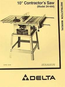 Delta 10 U0026quot  Contractor U0026 39 S Table Saw 34