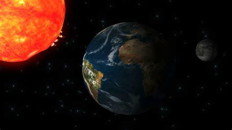 Sun Earth Moon Sun Earth Moon In Outer Space Animation Stock Video