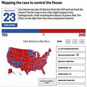 Mapping The Race To Control The House