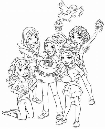 Lego Coloring Friends Pages Goodies
