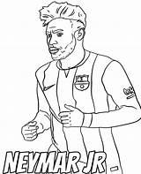 Coloring Neymar Pages Football Player Printable Jr Footballers sketch template
