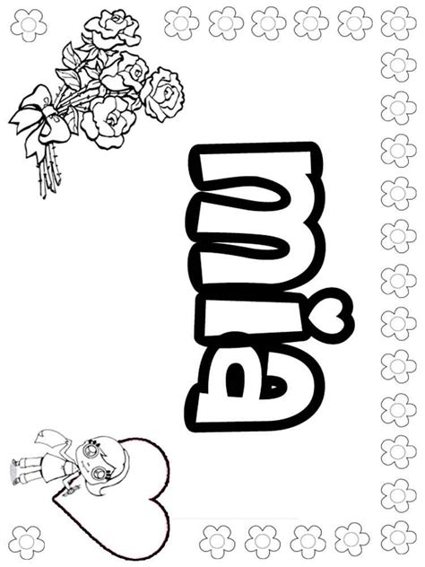 girls names coloring pages  printable girls names
