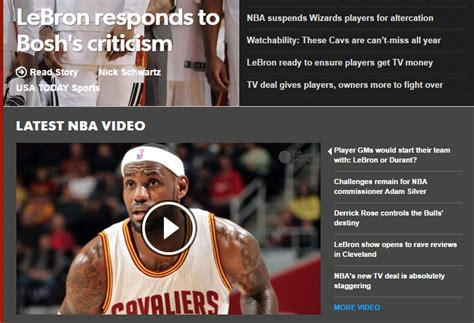 websites  check latest nba scores