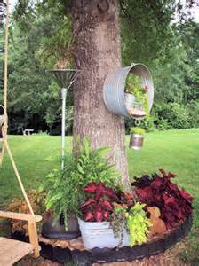 Repurposed Junk for the Garden Planters