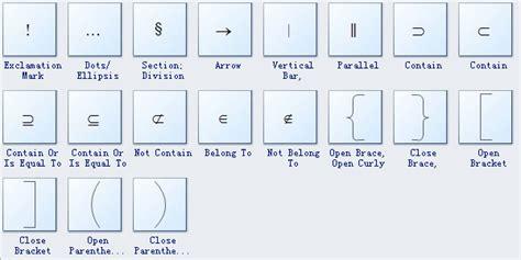 Mathematics Diagram Symbols