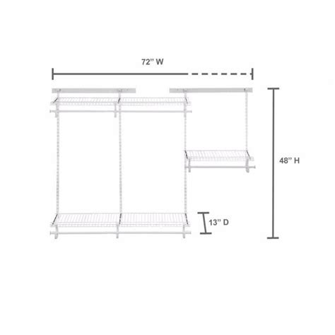 closetmaid shelftrack 4 ft 6 ft closet organizer kit