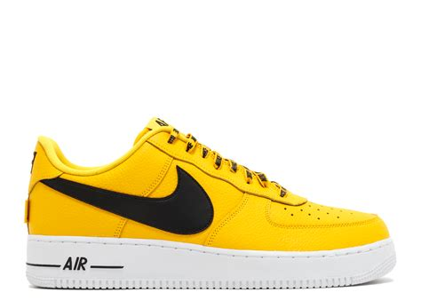Yellow White Mens Nike Air Force 1 Shoes