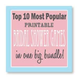 Bridal Shower Games Printable
