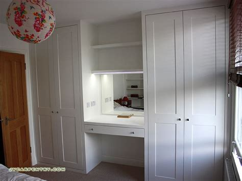 Dressing Room Cupboards by Two Shaker Wardrobes With Dressing Table Pinteres