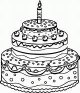 Cake Birthday Coloring Pages Drawing Printable Line Preschool Colorin Colorings Getdrawings Getcolorings Colour Candle Greetings 1st Popular Happy Coloringhome sketch template